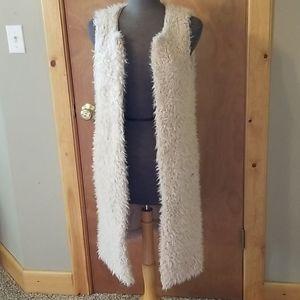 Long Fuzzy Vest